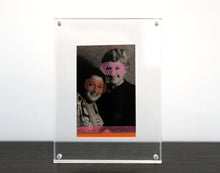 Load image into Gallery viewer, Vintage Smiling Masked Woman Art Collage - Naomi Vona Art