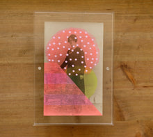 Load image into Gallery viewer, Neon Red And Pink Art Collage On Retro Vintage Portrait - Naomi Vona Art