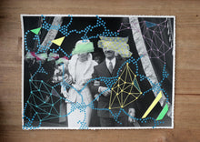 Load image into Gallery viewer, Abstract Collage On Vintage Wedding Couple Photo - Naomi Vona Art