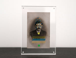 Vintage Man With Moustache Photography Altered By Hand - Naomi Vona Art