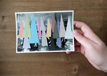 Load image into Gallery viewer, Paper Art Collage Composition On Vintage Photo - Naomi Vona Art