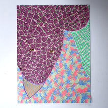 Load image into Gallery viewer, Altered Portrait Collage Decorated With Pens And Washi Tape - Naomi Vona Art