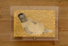 Load image into Gallery viewer, Golden Art Collage Over A Vintage Baby Portrait Photo - Naomi Vona Art