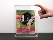 Load image into Gallery viewer, Neon Washi Tape Art Collage On Vintage Photography - Naomi Vona Art