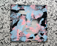 Load image into Gallery viewer, Salmon Pink And Light Blue LP Cover Art Collage - Naomi Vona Art