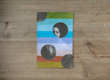 Load image into Gallery viewer, Washi Tape Collage On Vintage Woman Portrait - Naomi Vona Art