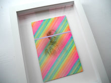 Load image into Gallery viewer, Neon Rainbow Framed Vintage Collage Art - Naomi Vona Art
