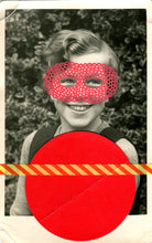 Load image into Gallery viewer, Vintage Red Masked Girl Portrait Art Collage - Naomi Vona Art