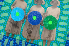 Carica l'immagine nel visualizzatore di Gallery, Vintage Bridesmaids Photo Altered With Handmade Techniques - Naomi Vona Art