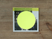 Load image into Gallery viewer, Neon Yellow Abstract Collage Art On Vintage Photo - Naomi Vona Art