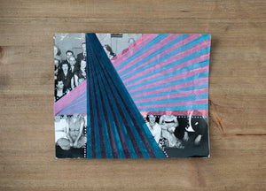 Abstract Washi Tape Collage On Vintage Group Photo - Naomi Vona Art