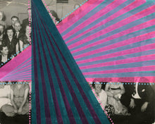 Load image into Gallery viewer, Abstract Washi Tape Collage On Vintage Group Photo - Naomi Vona Art
