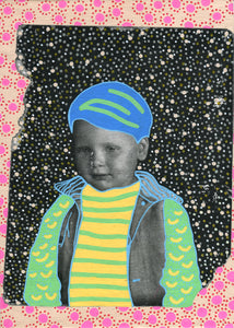Vintage Baby Boy Art On Canvas - Naomi Vona Art