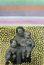 Load image into Gallery viewer, Mother With Child Manipulated With Mixed Media Materials - Naomi Vona Art