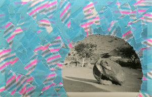 Collage Art Landscape Realised With Tape - Naomi Vona Art