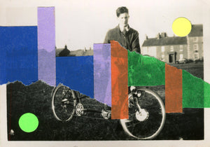 Bicycle Art Collage On Vintage Altered Photography - Naomi Vona Art