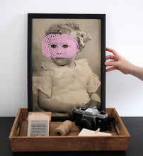 Load image into Gallery viewer, Vintage Style Collage Art Print Of A Baby Girl Retro Portrait - Naomi Vona Art