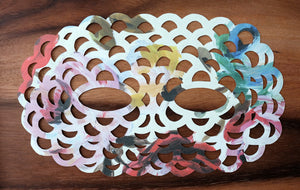 Funny Hand Cut Paper Mask, Original Art Gift Idea - Naomi Vona Art