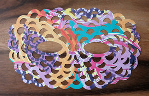 Hand Cut Affordable Paper Art Mask Collage - Naomi Vona Art