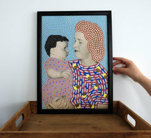 Load image into Gallery viewer, Mother With Baby Contemporary Vintage Collage Reproduction - Naomi Vona Art