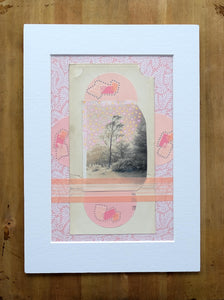 Pastel And Nude Pink Collage Art Landscape - Naomi Vona Art
