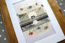 Load image into Gallery viewer, Vintage Mixed Media Landscape Collage - Naomi Vona Art