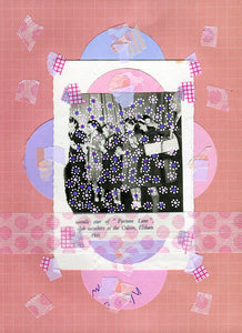 Pink And Violet Art, Paper Ephemera Collage Creation - Naomi Vona Art