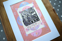Load image into Gallery viewer, Pink And Violet Art, Paper Ephemera Collage Creation - Naomi Vona Art