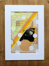 Load image into Gallery viewer, Retro Happy Man Drinking Altered With Paper Ephemera - Naomi Vona Art