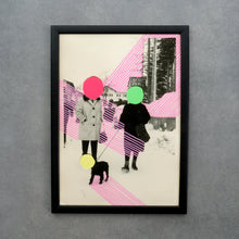 Load image into Gallery viewer, Neon Fine Art Print Of Vintage Style Collage - Naomi Vona Art