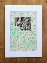 Load image into Gallery viewer, Mint Green Collage, Mixed Media Artworks Using Vintage Pictures - Naomi Vona Art
