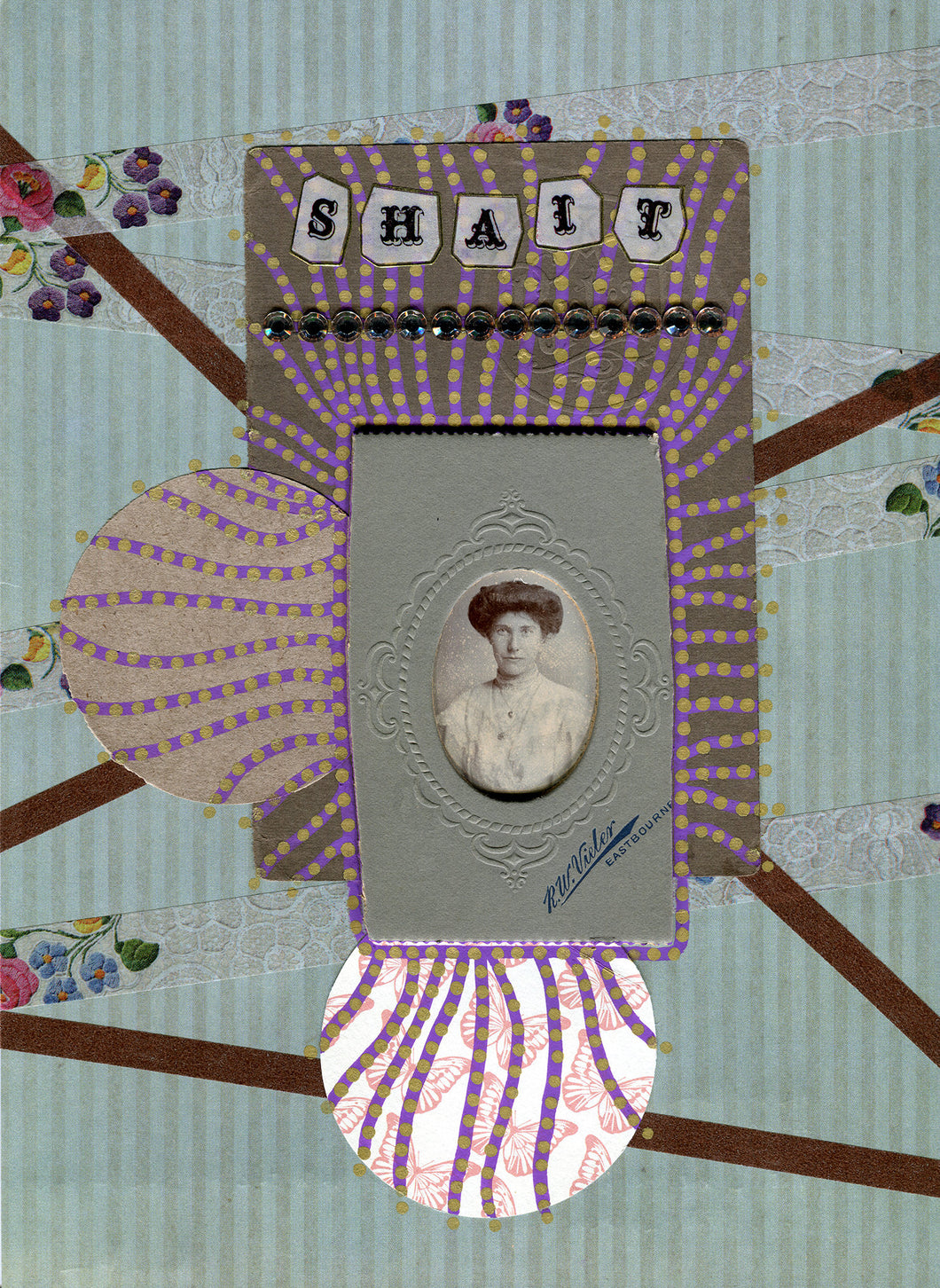 Contemporary Collage Created Using Found Photos Vintage - Naomi Vona Art