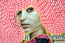 Load image into Gallery viewer, Neon Fine Art Print, Altered Fashion Woman Portrait Photo - Naomi Vona Art