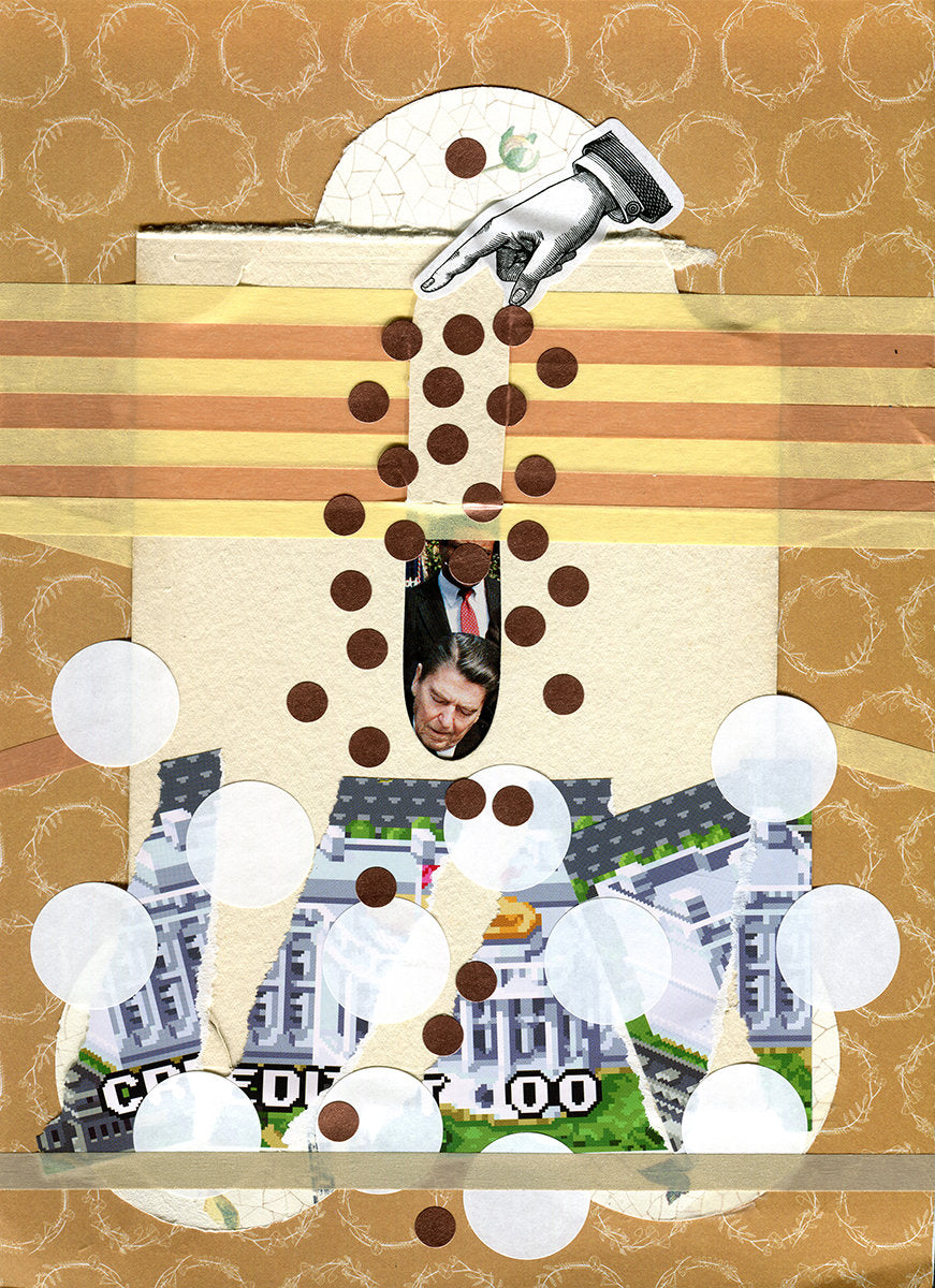Political Art, Original Mixed Media Collage - Naomi Vona Art