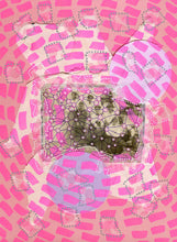 Load image into Gallery viewer, Colorful Neon Pink Art, Mixed Media Collage Creation - Naomi Vona Art