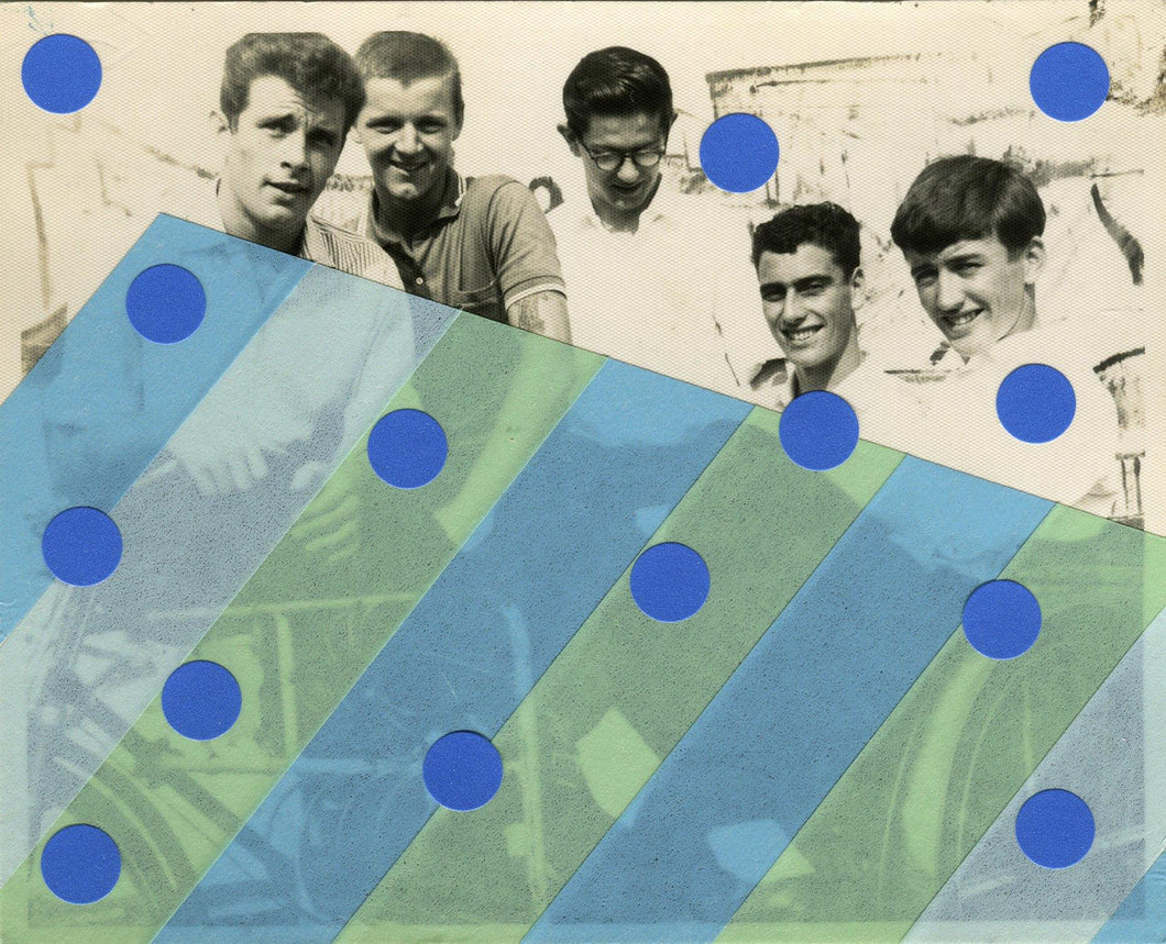 Vintage Male Group Photography Collage - Naomi Vona Art