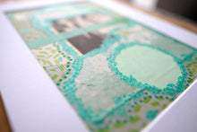 Load image into Gallery viewer, Mint Green Original Mixed Media Collage, Wedding Artwork - Naomi Vona Art
