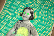 Load image into Gallery viewer, Mixed Media Vintage Collage On Retro Smiling Baby Girl Portrait - Naomi Vona Art