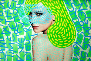 Contemporary Art Print Of Manipulated Fashion Portrait - Naomi Vona Art