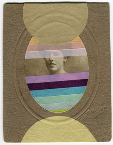 Mixed Media Vintage Collage Of Woman Portrait - Naomi Vona Art