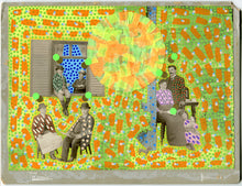 Load image into Gallery viewer, Mixed Media Collage On Retro Family Portrait - Naomi Vona Art
