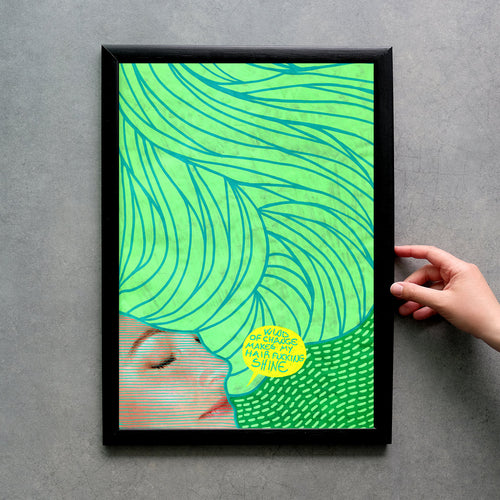 Green Fine Art Print, Wall Art Gift Idea - Naomi Vona Art