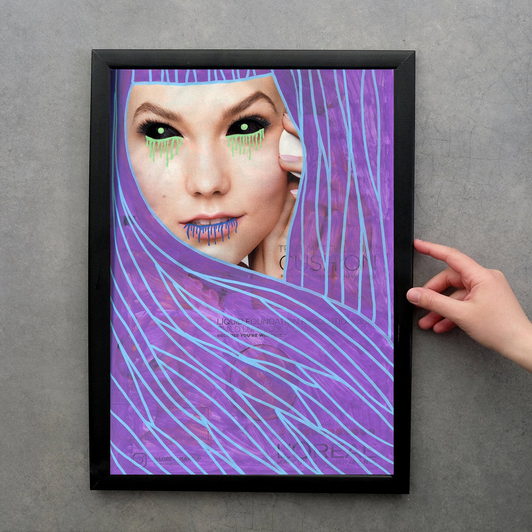 Original Fine Art Print, Vampire Themed Illustration - Naomi Vona Art