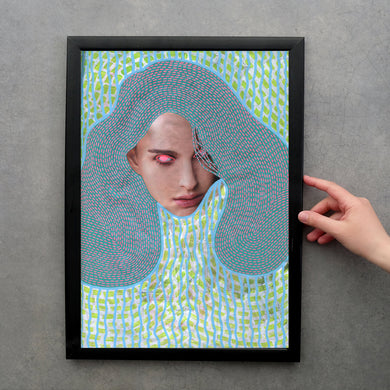 Altered Fashion Woman Portrait, Original Wall Art Print Gift - Naomi Vona Art