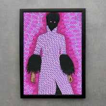 Load image into Gallery viewer, Pink And Purple Fashion Altered Woman Portrait - Naomi Vona Art