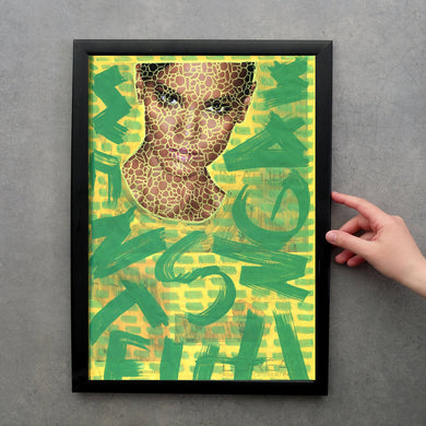 Green And Yellow Fashion Fine Art Photo, Altered Fashion Print - Naomi Vona Art