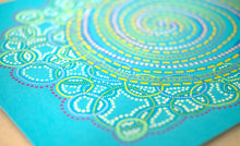 Load image into Gallery viewer, Bright Turquoise Contemporary Abstract Drawing - Naomi Vona Art
