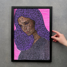 Load image into Gallery viewer, Purple And Neon Pink Made To Order Giclee Fine Art Print - Naomi Vona Art