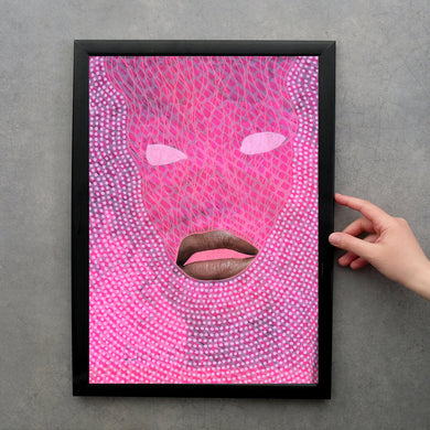 Neon Pink Customisable Made To Order Giclee Fine Art Print - Naomi Vona Art
