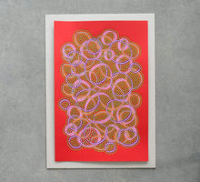 Load image into Gallery viewer, Abstract Composition Realised On Red Paper - Naomi Vona Art